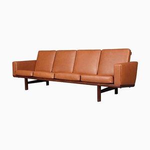 Vintage 4-Seat Sofa by Hans J. Wegner for Getama