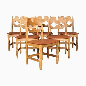 Dining Chairs by Henning Kjærnulf for EG Møbler, 1970s, Set of 6
