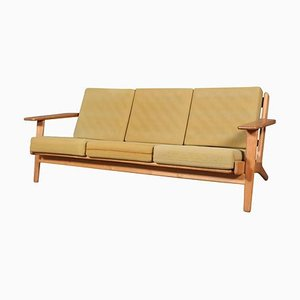 Eiche Modell 290 3-Sitzer Sofa von Hans J. Wegner für Getama, 1970er