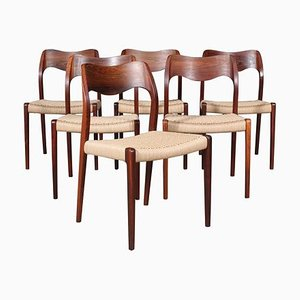 Rosewood Dining Chairs by Niels Otto Møller, 1960s, Set of 6