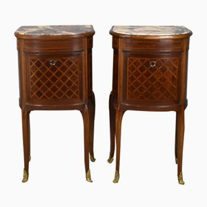 Antique Louis XV Style French Nightstands, Set of 2