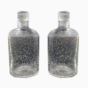 Vintage Bullé Flaschen von Daum Nancy, 2er Set
