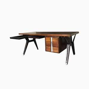 Mid-Century Italian Rosewood Desk by Ico & Luisa Parisi for MIM, 1950s