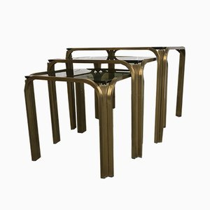 Triptych Coffee Tables, 1970s, Set of 3