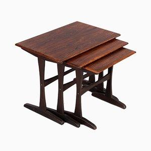 Mid-Century Danish Rosewood Nesting Tables, 1960s, Set of 3