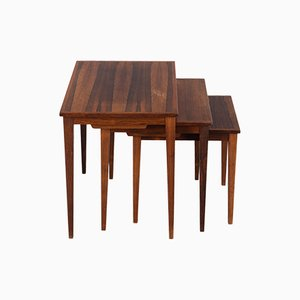 Danish Model 42 Rosewood Nesting Tables from Kwalitet Form Funktion, 1960s, Set of 3