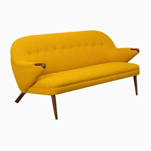 Danish Ocher Yellow Sofa by Johannes Andersen for CFC Silkeborg, 1960s