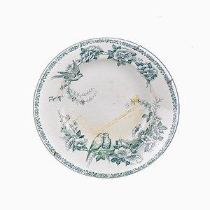 Decorative Plate from St Amand Mésanges, 1930s