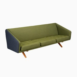 Mid-Century Green Blue Model ML-90 3-Seater Sofa by Illum Wikkelsø for Michael Laursen, 1960s