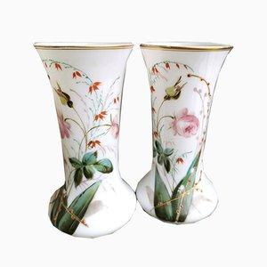 Opaline Glass Vases, Set of 2