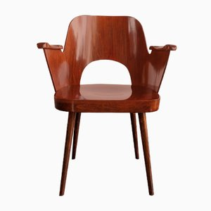Vintage Wooden Dining Chair by Oswald Haerdtl for TON, 1960s