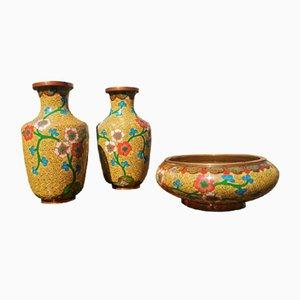 Japanische Mid-Century Vasen, 3er Set