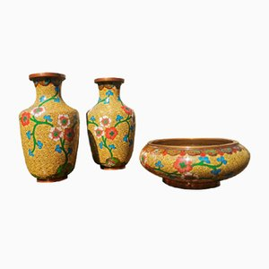 Mid-Century Japanese Vases, Set of 3
