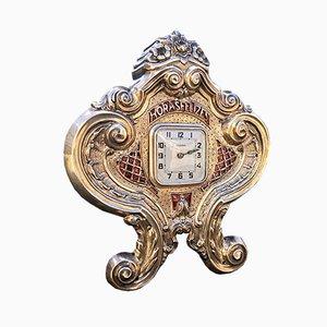 Vintage Silver Clock
