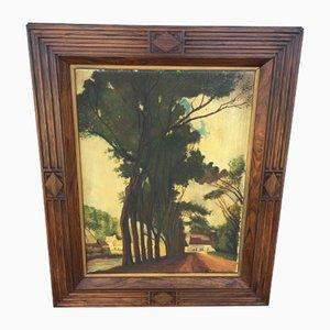 Ölgemälde auf Sperrholz, 1930er