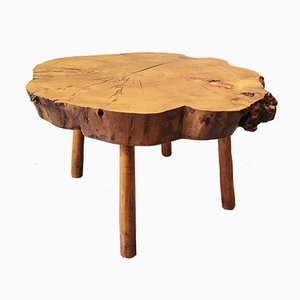 French Tree Trunk Coffee Table, 1970s