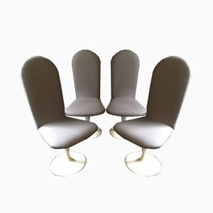 Mid-Century Swivel Tulip Chairs, Set of 4