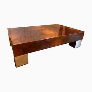 Vintage Briarwood Coffee Table in the Style of Willy Rizzo