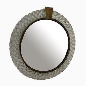 Italienischer Spiegel von Carlo Scarpa für Venini, 1950er