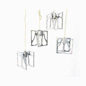 Modernistische Deckenlampen im organischen Design, 1990er, 4er Set