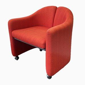 Italienischer Roter Modell PS142 Sessel von Eugenio Gerli für Tecno, 1960er