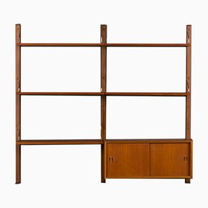 Teak Wall Unit with Small Cabinet by Poul Cadovius for Cado, 1960s