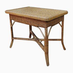 Vintage Rattan Tisch, 1960er