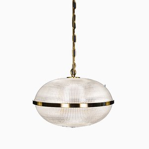 Small Vintage Clear Fitzroy Ceiling Lamp