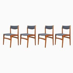 Chaises de Salon Mid-Century en Teck par Erik Buch, Danemark, 1960s, Set de 4