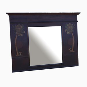 Arts and Crafts Mahogany Framed Mirror, 1930s