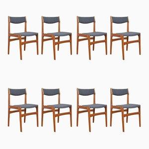 Chaises de Salon Mid-Century en Teck par Erik Buch, Danemark, 1960s, Set de 8