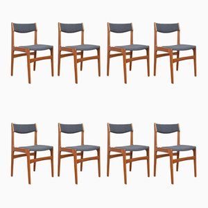 Mid-Century Danish Teak Dining Chairs by Erik Buch, 1960s, Set of 8