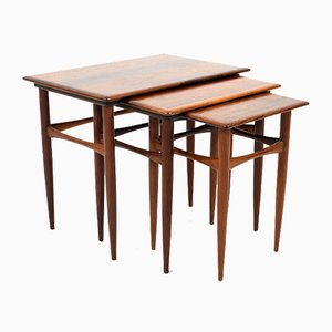 Danish Rosewood Nesting Tables by Kai Kristiansen for Skovmand & Andersen, 1960s, Set of 3