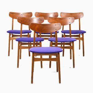 Mid-Century Danish Teak and Oak Dining Chairs from Farstrup Møbler, Set of 6