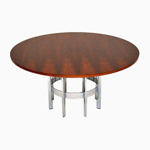 Rosewood and Chrome Dining Table from Merrow Associates, 1960s
