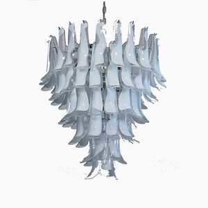 Vintage Murano Glass Chandelier in the Style of Mazzega, 1983