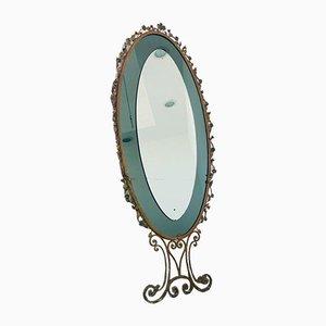 Specchio da parete vintage in stile Pierluigi Colli, anni '50