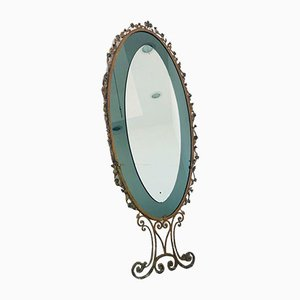 Vintage Wall Mirror in the Style of Pierluigi Colli, 1950s