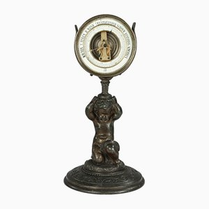 Antikes Cherub Barometer aus Bronze von Antoine Redier