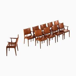 Dänische Palisander Armlehnstühle von Johannes Andersen für Uldum Møbelfabrik, 1960er, Set of 10
