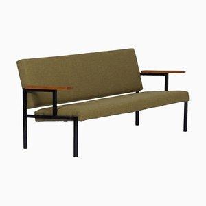 Grünes Sofa von Gijs van der Sluis für van der Sluis Stalen Meubelen, 1960er