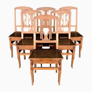 Französische Country Esszimmerstühle, 1820er, 6er Set
