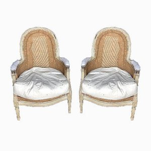 French Bergere Armchairs, 1890s, Set of 2