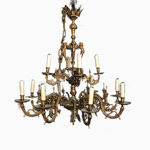 Large French Ormolu Chandelier, 1920s