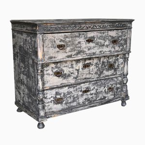 French Painted Chest of Drawers, 1880s