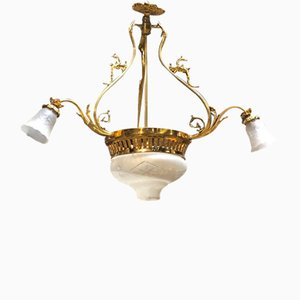Antique French 3-Branch Chandelier, 1900s