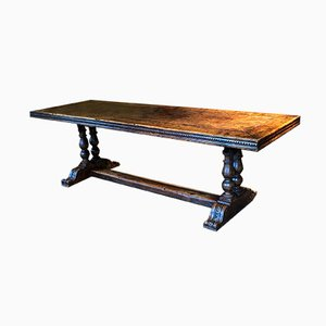 French Walnut Monastery Refectory Dining Table, 1820s