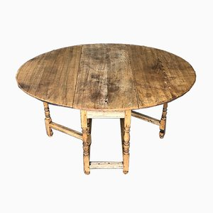 Antique Bleached Oak Kitchen Table, 1860s