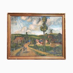 English Impressionist Oil Painting, 1940s