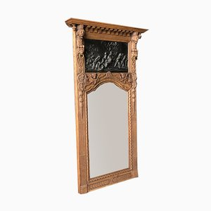 Specchio rinascimentale intagliato con putti